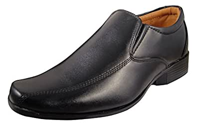 Action Synergy Men's Leather Formal Shoes P9906 Black