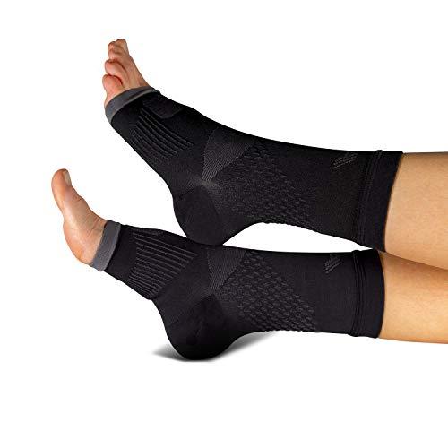 COMPRESSION FOR ATHLETES Hochwertige Plantarfasziitis Socke/Fersensporn Bandagen von CFA, unterstützt Gewölbe und Knöchel, schmerzlindernd, in der EU hergestellt. (1 - Paar) (S/M) -
