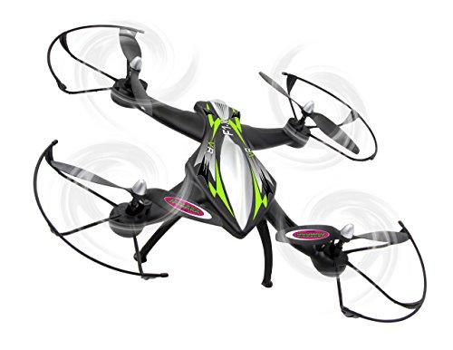 Jamara 422021 - F1X VR Altitude FPV Wifi Kompass Flyback - Race Drone, inklusiv VR-Brille, über Sender und App steuern, 3 Geschwindigkeiten, 40 KM/h, Höhenkontrolle (Barometer) und Rückflugautomatik - 5