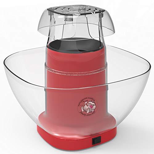 n-Automat mit Airpop ohne Fett + Behälter + Messbecher + Probebeutel süsser Mais für 16 Liter Popcorn ... (rot) ()