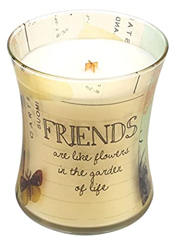 WoodWick SCENTED CANDLE by Pajoma 48227 Inspirational Collection Friends New Design / Burning Time approx. 60 hours, 275 g