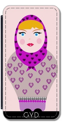 Custodia per Iphone 7 Plus / 8 Plus (5,5) - Russian Doll by les caprices de filles Simili-Cuir