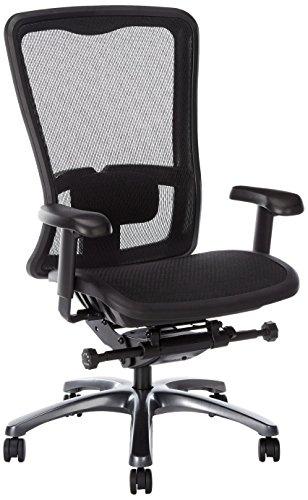 Office Star Hohe Rückenlehne atmungsaktiv-Sportschuhe ProGrid Rücken und Sitz verstellbar schwarz...
