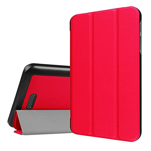 WiTa-Store Schutzhülle für Acer Iconia One 7 B1-780 7.0 Zoll Smart Slim Case Book Cover Stand Flip (Rot)