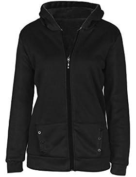 OverDose Las mujeres caliente de la capa del invierno de la chaqueta con capucha Parka Abrigo largas Outwear la...