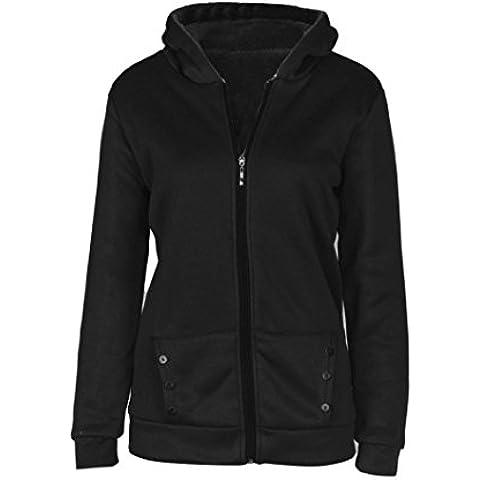 OverDose Las mujeres caliente de la capa del invierno de la chaqueta con capucha Parka Abrigo largas Outwear la ropa