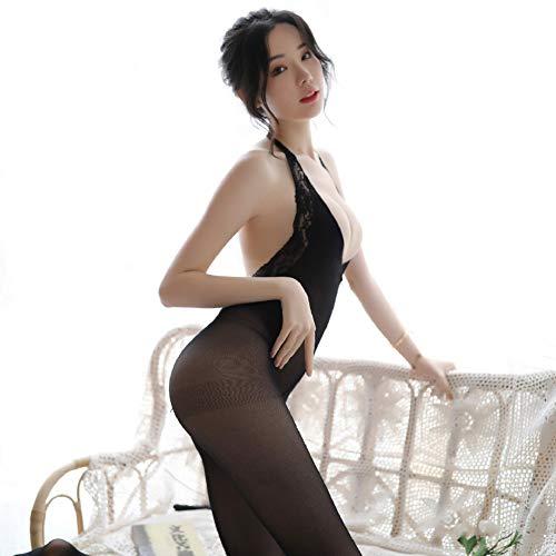 ZKKZ Sexy Unterwäsche Sexy Nude Rücken Spitze Strümpfe Sexy Body Strümpfe Einteiler Unterwäsche Strumpfhose Teddy Pole Dance