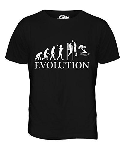 CandyMix Beachvolleyball Evolution Des Menschen Herren T Shirt Schwarz