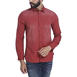 Jack & Jones Men's Casual Shirt (5713235797328_12115492Syrah_Large)