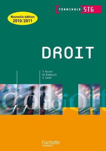 Droit Term. STG - Livre élève - Ed.2010