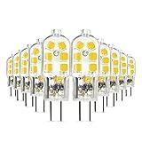 LED Leuchtmittel,Scoek 10 Pack G4 3W LED Lampe,AC / DC 12V,ersetzt 20W Halogenlampen,led Stiftsockellampe kleine Glühlampe sockel Beleuchtung Mais Leuchtmittel,Natürlich Weiß 4000K