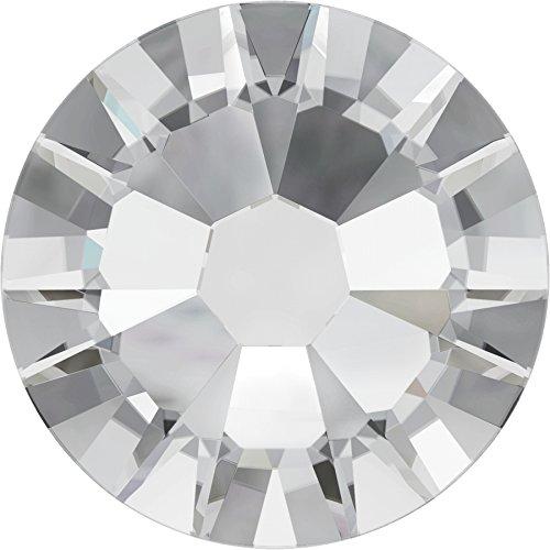 2058 Crystal (Swarovski® Kristalle 2058 ohne Kleber SS10 (ca. 2.8mm) 100 Stück Crystal)