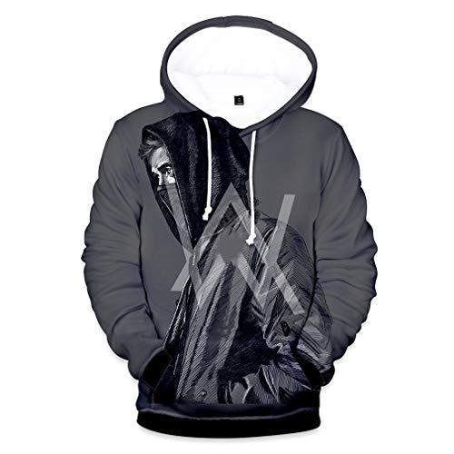 Pulloverhoodie Paar Tragen, 3D-Druck-Sweatshirt Beiläufige Straße Langarm Pullover Unisex Wear,02,M
