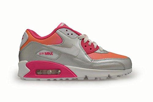 quality design 65c47 d4e5f Nike Mädchen Air Max 90 Prem Mesh (Gs) Laufschuhe Hell Zitrus Weiß Rosa