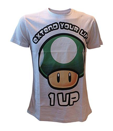 Unbekannt Super Mario Japanese T-Shirt Weiß wei