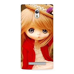 Delighted Angel Wearing Hat Multicolor Back Case Cover for Oppo Find 7