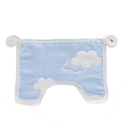 San Bodhi Neugeborene Infant Baby 6Schichten angenehme Atmungsaktive Baumwolle Lätzchen Speichel Handtuch-zufällige Stil