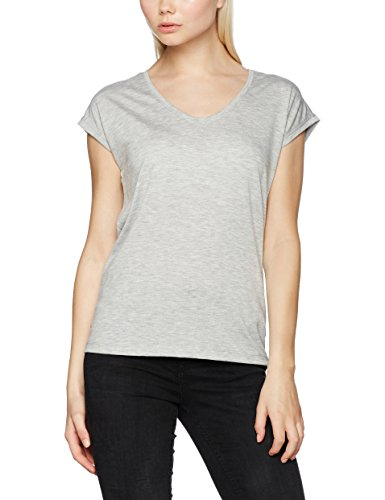 PIECES Pcbillo Tee Solid Noos, T-Shirt Donna Grigio (Light Grey Melange)
