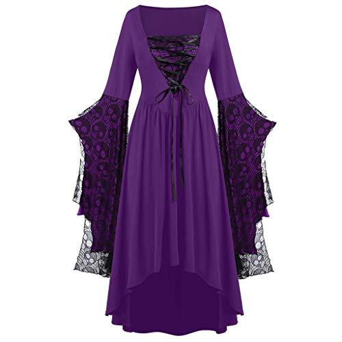Fascino-M retrò Donna Gotico Steampunk Corsetti e Bustiers Dress Fashion Abito Donne Halloween Vintage Dress
