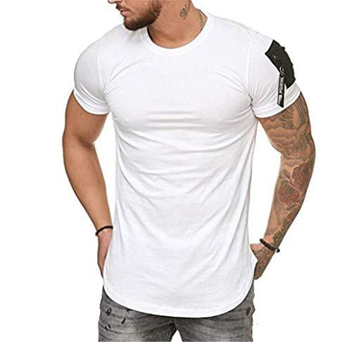 Herren T Shirts Print Unisex Kurzarm Sommer T-Shirt,Large Size Herren Sport T-Shirt Modetrend weiß M Sonic Ringer