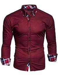Kayhan Homme Chemise Slim Fit Repassage Facile, Coton, Manches Longues Coupe Parfaite, Produit de qualité Modell - Musterärmel S M L XL XXL