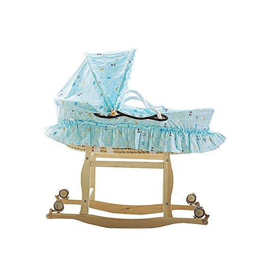 ALUK- 0-12 Mois Moses Basket lit bébé/Portable Lit Berceau/lit de Repos Lit bébé, avec Support, roulement 20kg (Taille : Ordinary Section-A)