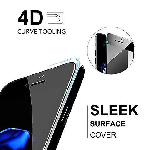 LFOTPP iPhone 6/6S Protection d'écran, [4D Full Coverage] Verre Trempé Protecteur d'écran Protection pour Apple iPhone 6/6S 4,7 Pouces[3D Touch compatible] 9H Dureté (Pack de 1