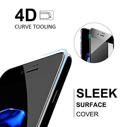 iPhone 6s 6 Schutzfolie, LFOTPP [4D Full Coverage] Panzerglas Schutzfolie für Apple iPhone 6/6s, 3D Touch Kompatibel, 9HHärte,Anti-Fingerabdruck (Schwarz)