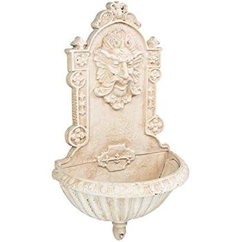 Wandbrunnen Blanc Lavabo Jardin Fontaine Fontaine Métal Fontaine antique