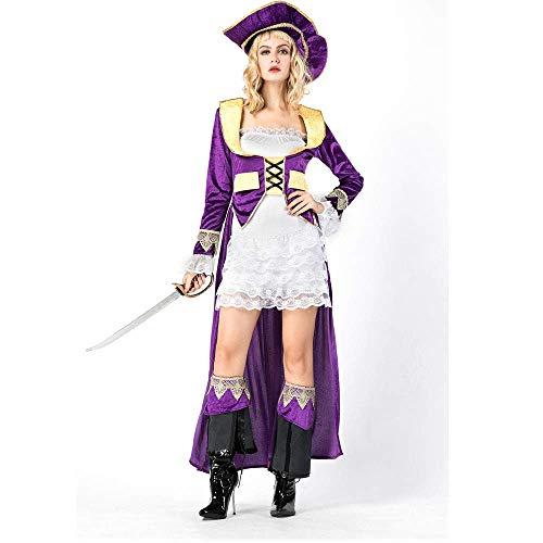 m, Halloween Karibik weibliche Pirat, Maskerade Gericht Pirat Braut spielt Uniform M ()