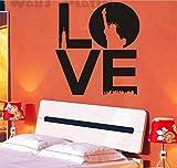 Namefeng Wandaufkleber Kunst New York Love Wandaufkleber - Liebe Mit Freiheitsstatue Aufkleber Wandtattoo 56X40Cm