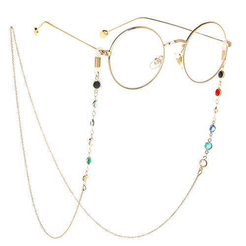 Brillenbänder & -ketten für Damen Glasses Chain Farbige Brillekette Lesebrillen Brillen Cord Brillenbänder Band Kette Brille Hals Cord
