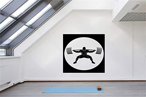 wandaufkleber 3d Wandtattoo Wohnzimmer Aufkleber Image For Gym Training Eisen Gewicht Bar Spielzimmer Fitness-Center Fitnessraum Sportraum (Auf Flecken Fußball-eisen)