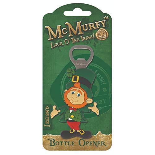 McMurfy Leprechaun Lucky PVC Refrigerator Bottle Opener Magnet -