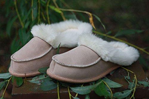 Peau de mouton Chaussons - LILLI Pantoufles Pour Dames pantoufles Beige