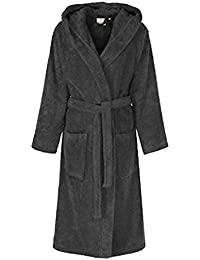 7222bbf074 Vanilla Inc Unisex 100% Pure Cotton Mens Womens Ladies Hooded Bathrobe  Housecoat Dressing Gown