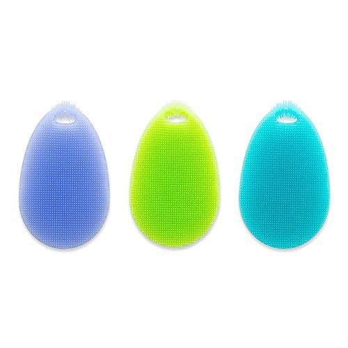 SpülWunder Silikonschwamm und Fusselbürste oval in drei Farben - Bekannt aus der TV-Werbung!