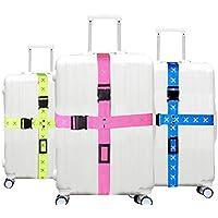 Largo Cruz correas de equipaje ajustable correa cinturones correas de equipaje maleta bolsa bolsa de viaje accesorios de viaje, Azul
