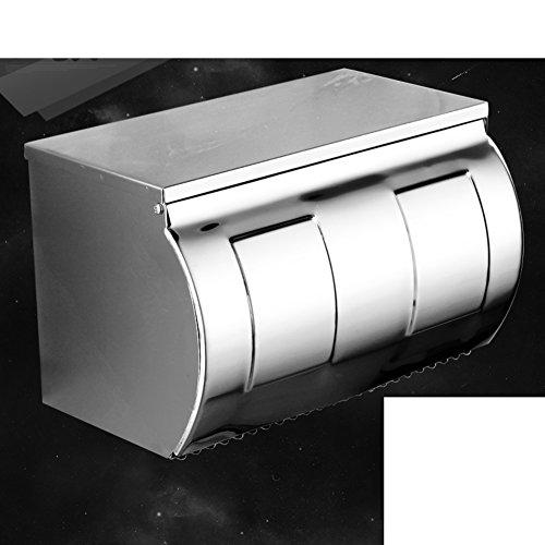 Edelstahl Toilettenpapierhalter Roll-rack Papierflieger Gewebe-halter Support Wandmontage typ Badezimmer Küche Verteiler 100% metal Polnische Chrome Wasserdicht Nickel gebürstet Ihre 304-F 9x4x5inch