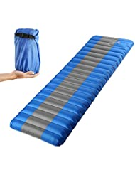 Esterilla Inflable, Portátil Colchón de Aire Cama al Aire Libre Grosor 12 cm para Dormir