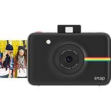 Polaroid Cámara digital instantánea Snap (negra) con la tecnología de impresión ZINK Zero Ink