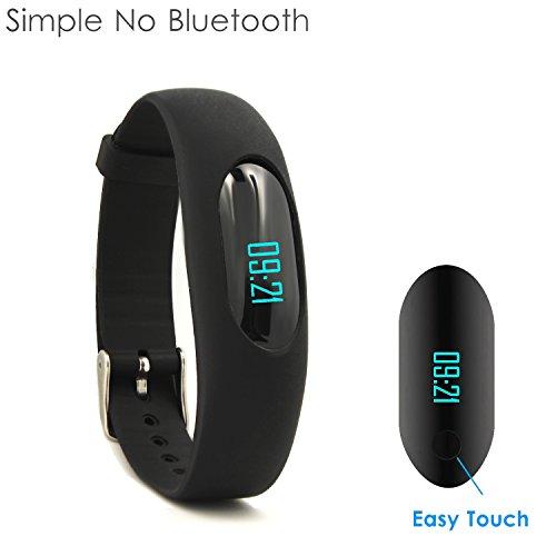 Produktbild YAMAY Fitness Armband Schrittzähler Armbanduhr Ohne Bluetooth Aktivitätstracker mit Zeit Dtum Schrittzähler Kalorienzähler Entfernungsrechner Schlafmonitor für Damen Kinder Herren Ohne App Handy