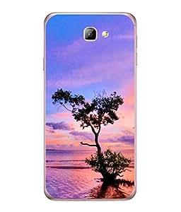 PrintVisa Designer Back Case Cover for Samsung On7 (2016) New Edition For 2017 :: Samsung Galaxy On 5 (2017) (Sunset Ocean Landscape Illustration Sunlight)
