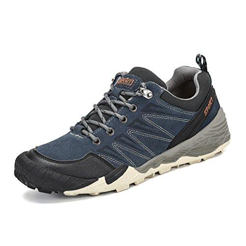 Dannto Herren Wanderschuhe Trekking Männer Damen Outdoorschuhe Winterstiefel Rutschfeste Traillaufschuhe Reiseschuhe Weiche und Bequeme(Blau-B,42)