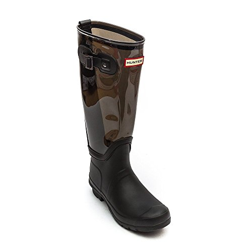 Hunter Original Clear Leg Donna Stivali Nero Schwarz