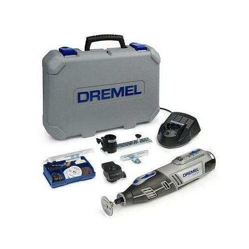Preisvergleich Produktbild Dremel 8200-2/45 Akku-Multifunktionswerkzeug Li-Ion (10,8 Volt, 45 Zubehöre, 2 Vorsatzgeräte, Ladegerät, stabiler Tragekoffer)