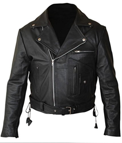 Men's Terminator 2 Judgment Day (1991) Arnold Genuine Leather Biker Jacket. XS to 5XL