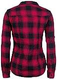 Brandit Amy Flanell Checkshirt Girl-Hemd schwarz/rot - 2XL Vergleich