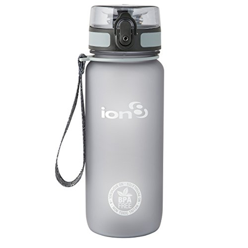 ion8 Unisex Leak Proof Bpa Free Cycling Water Bottle, Frosted Grey 750ml, 750 ml