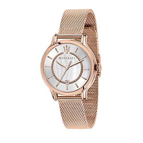 Maserati Reloj Analógico para Mujer de Cuarzo con Correa en Acero Inoxidable R8853118506